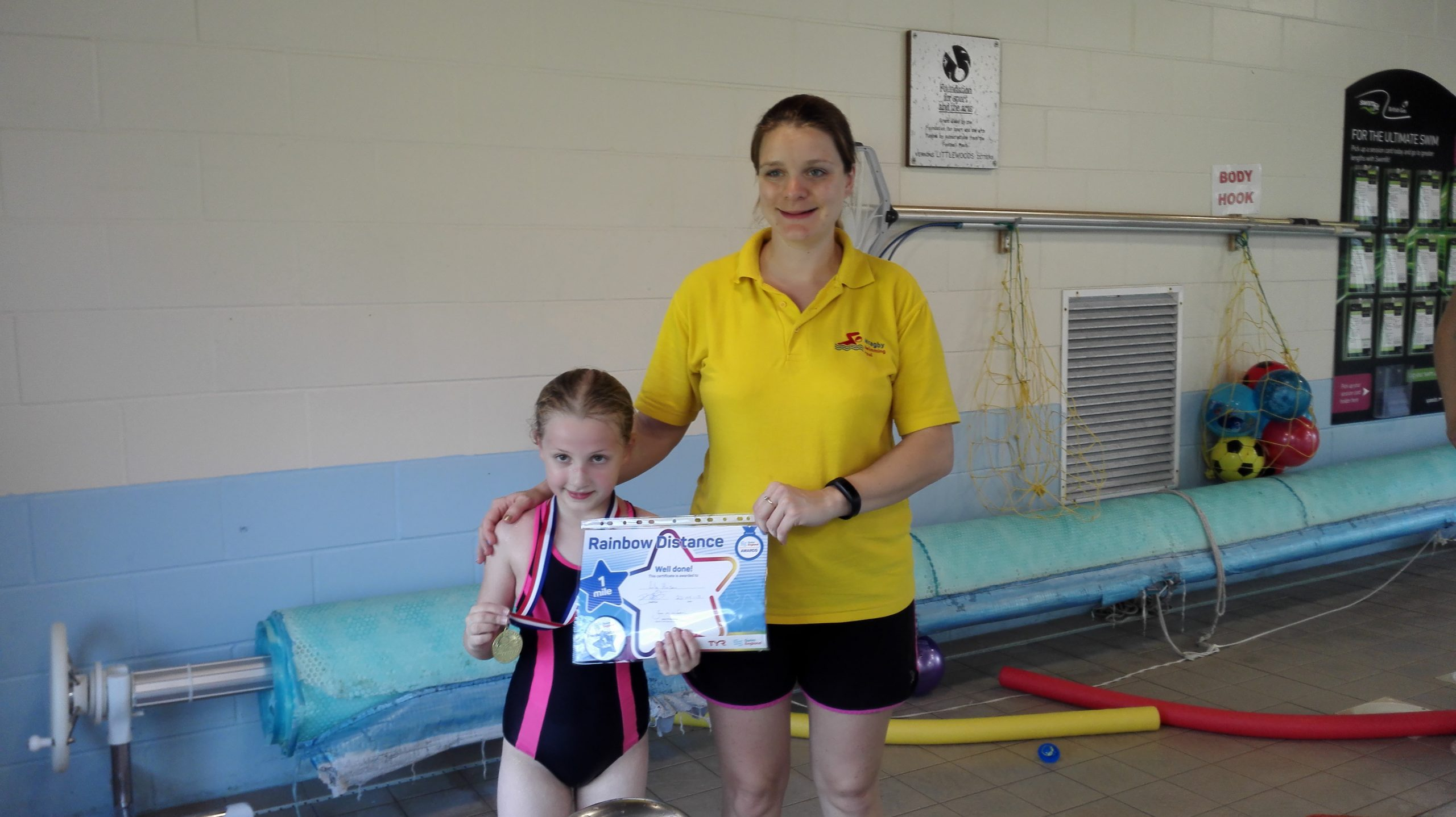 Lily completed 107 lengths!